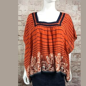 Edme & Esyllte Top Small Orange Silk Anthropologie